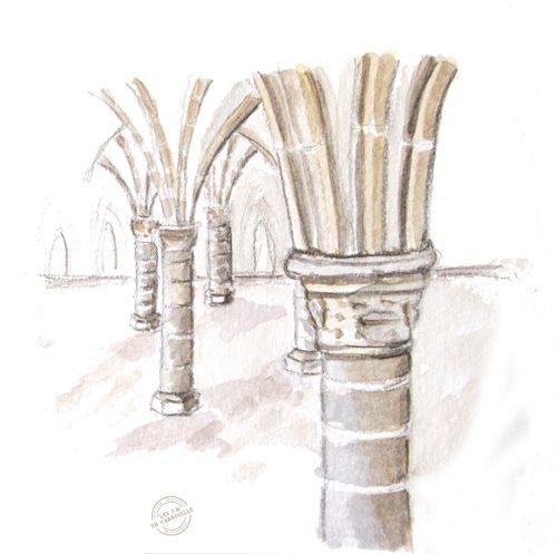 Détail des arches de l'Abbaye du Mont Saint Michel