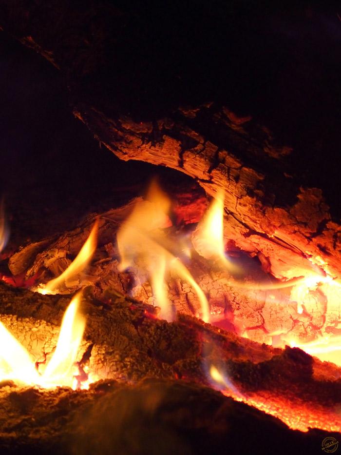 Un bon feu à La Malbaie