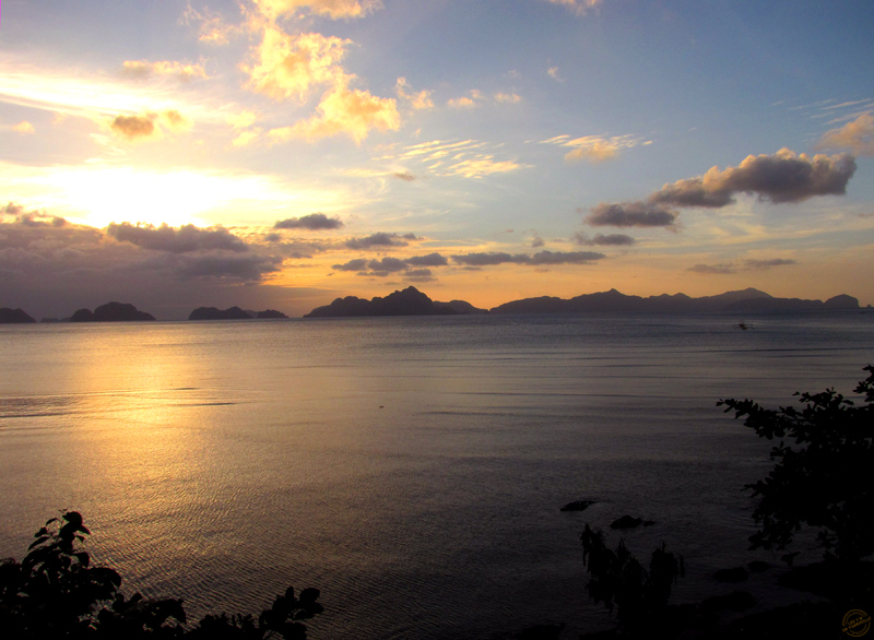 Coucher de soleil sur l'archipel