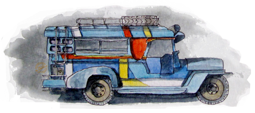 aquarelle-philippines-jeepney