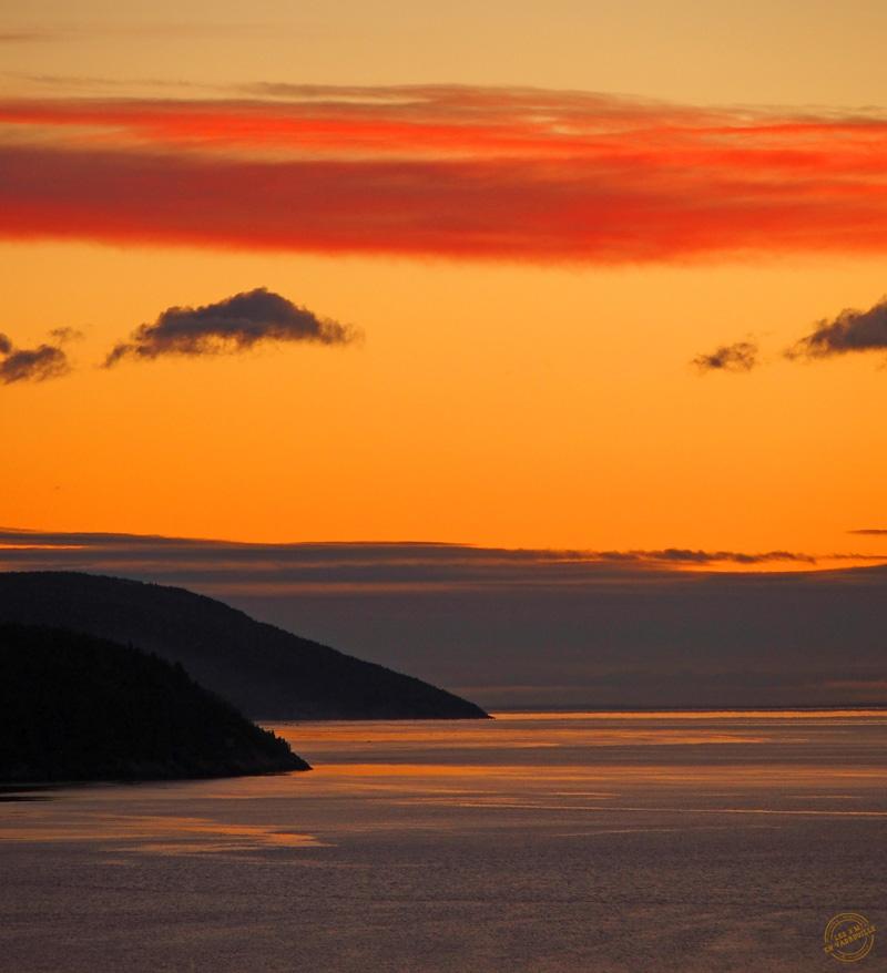 Lever de soleil depuis La Malbaie