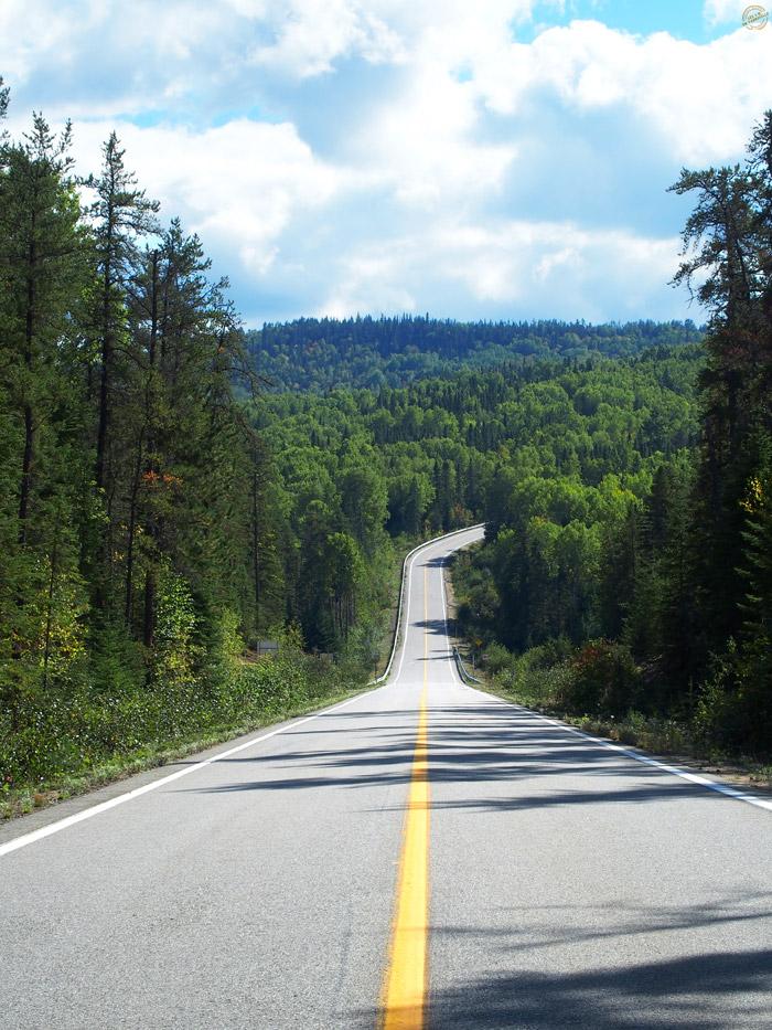 Route vers le Parc National des Hautes Gorges