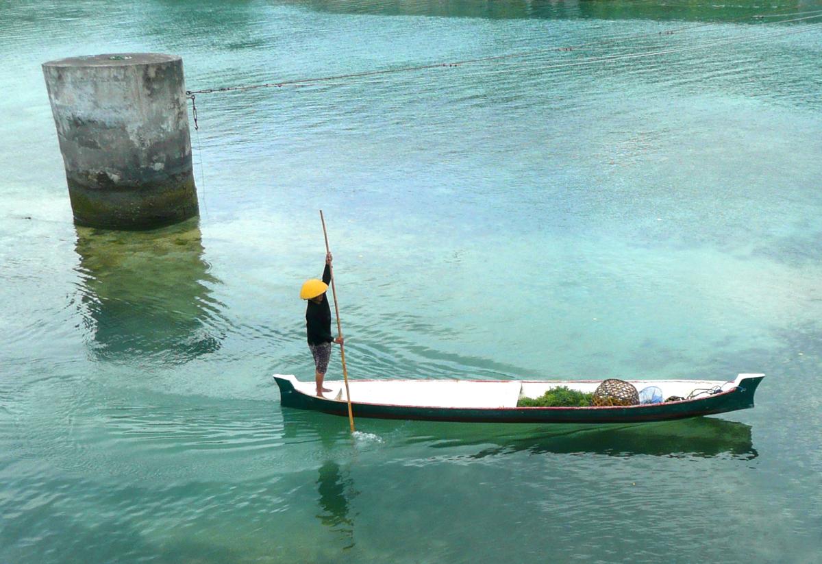Pêcheur d'algues à Lembongan